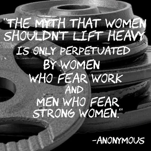 Go lift heavy things ladies! Great words that coach Chrishellip
