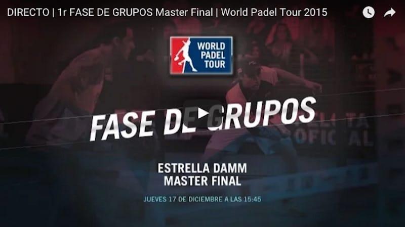 En directo jornada jueves Master Final World Padel Tour Madrid 2015