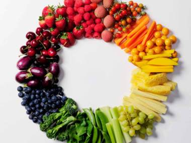 healthy foods and eating right - rainbow diet