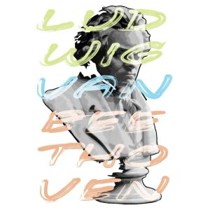 Ludwig van Beethoven portrait and typography