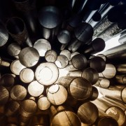Perspective circles photograph in Sibelius monument