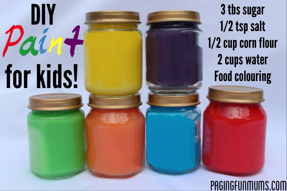 Diy paint made from household ingredients handy diy for Diy paint