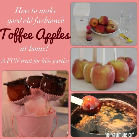 how to make good old fashioned toffee apples at home