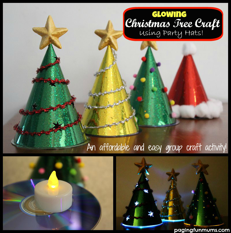 These Glowing Christmas Trees are a perfect craft for playgroups or ...