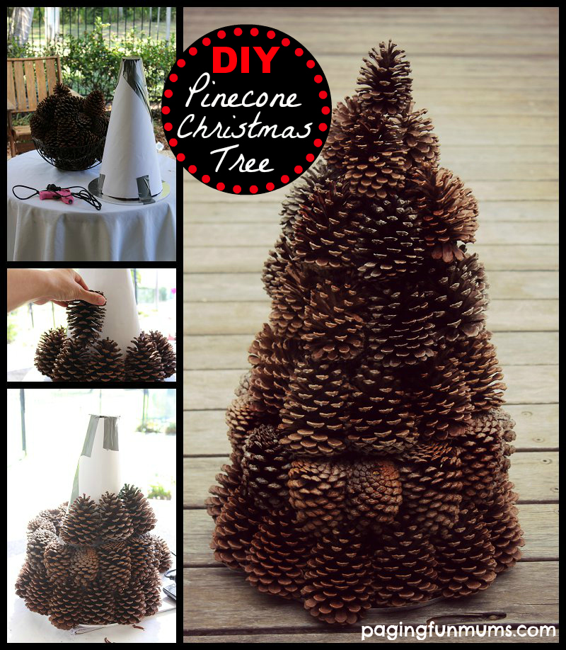 FUN making this simple DIY Pinecone Tree Centerpiece for our Christmas ... Christmas Tree Decorations 2013