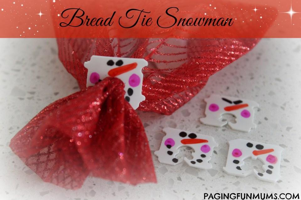 Bread Tie Snowman