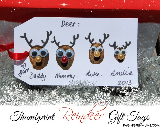 Thumbprint Reindeer Gift Tags 2