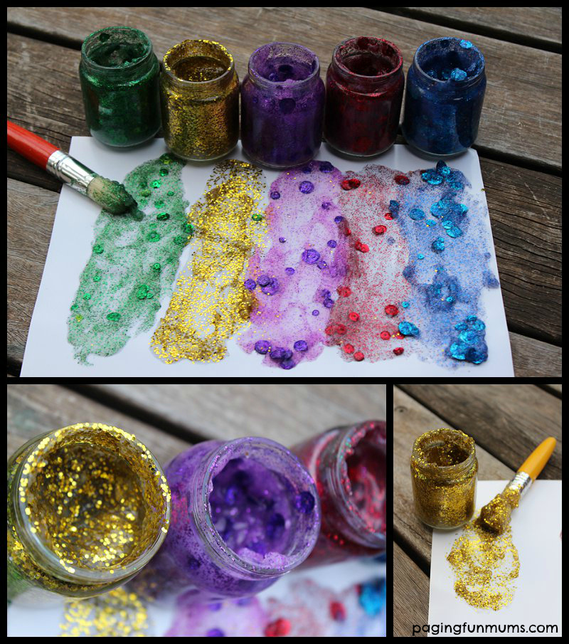 how to make glitter paint for crafts