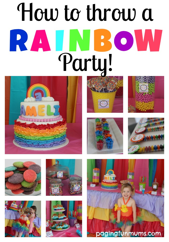 How To Throw A Rainbow Party on My Little Pony Birthday Party Activities