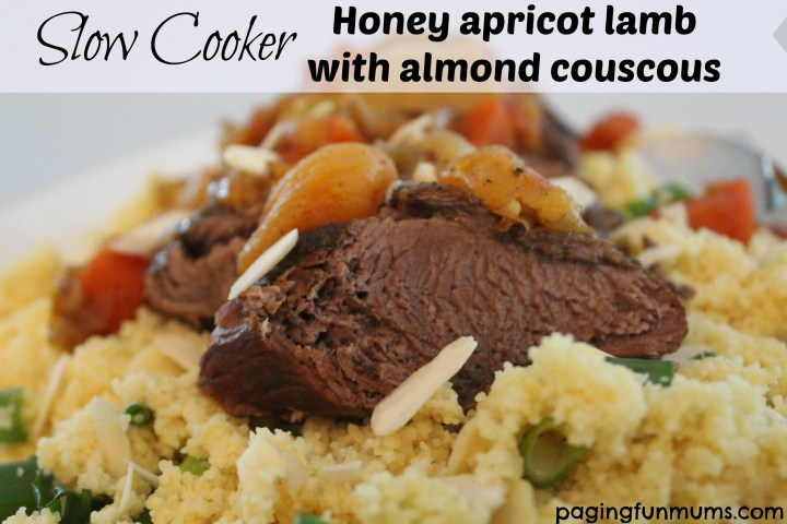 Slow Cooker Honey Apricot Lamb with Almond Cous Cous