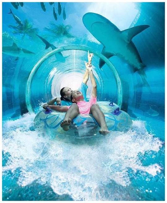 Underwater Slide at Atlantis The Palm Resort - Paging Fun Mums