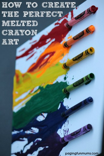 How to create the perfect Melted Crayon Art!