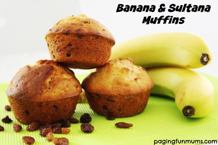 Banana & Sultana Muffins..