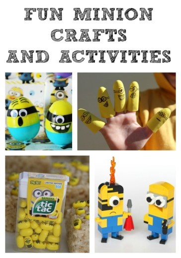 FUN Minion Crafts & Activities! Perfect for any Minion fans!!