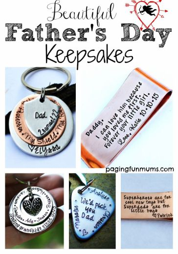 Beautiful father's day keepsakes