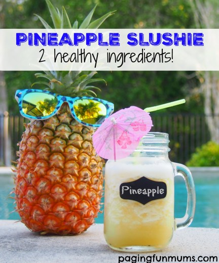 Pineapple Slushie - just two healthy ingredients!