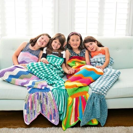 Crochet Mermaid Blankets