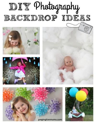 DIY Photography Backdrops