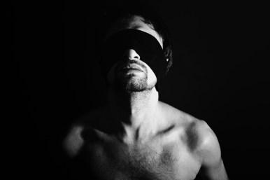blindfold man