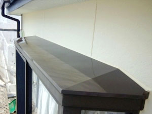 出窓上、鉄板