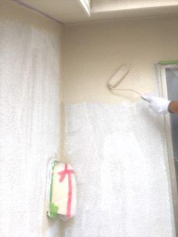 リシン外壁ガイナ塗装 (2)