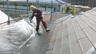 ガイナ 麻生区 コロニアル屋根 外壁ジョリパット 塗装