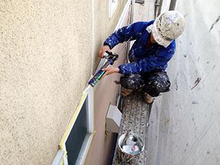 下地調整作業④ モルタル壁の収縮特性1