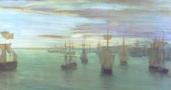Crepuscule in Flesh Colour and Green: Valparaiso 1866 James Abbott McNeill Whistler 1834-1903 Presented by W. Graham Robertson 1940 http://www.tate.org.uk/art/work/N05065