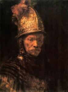 man-golden-helmet