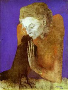 Pablo-Picasso_Woman-with-a-Crow_1904.