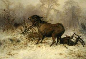 Schenck, August Friedrich Albrecht; Donkey Surprised by a Wolf; Museums Sheffield