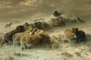 schenck_a-shepherd-with-his-flock-in-a-snowstorm