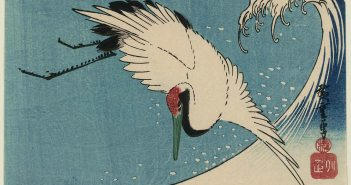hiroshige_crane-flying-over-wave