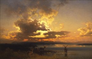 herman-hertzog_sunset-with-elk