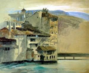 john-ruskin_old-houses-on-the-rhone-island-geneva-1863