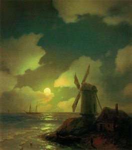 ivan-aivazovsky_windmill-on-the-sea-coast-1851