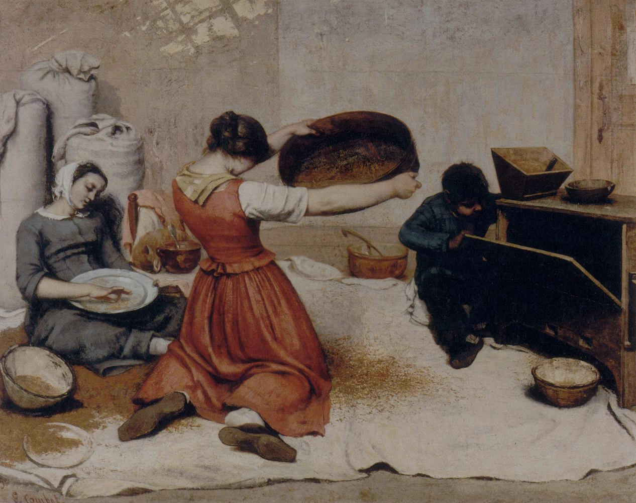 Gustave-Courbet_The-Grain-Sifters_1854