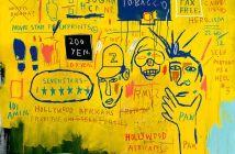 Hollywood Africans (1983) Acrylic and oil stick on canvas 84 1/16 x 84 inches by Jean-Michel Basquiat (1960-1988)