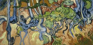 Tree Roots (1890) 19.7 in × 40.6 inches oil on canvas by Vincent van Gogh