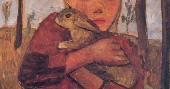Girl with Rabbit, 1905 by Paula Modersohn-Becker (1876-1907)