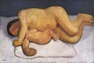 Reclining Mother and Child, 1906 by Paula Modersohn-Becker
