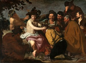 The Triumph of Bacchus, 1629 oil on canvas 5′ 5″ x 7′ 5″ by Diego Velázquez