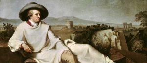Goethe in the Country, 1787 oil on linen 164× 206cm by Johann Heinrich Wilhelm Tischbein (1751-1829)
