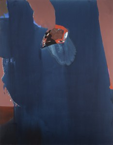 Sonar Psyche, ca. 1970 oil on canvas 90 1/8 × 70 1/2 × 2 1/8 inches by Dorothy Hood