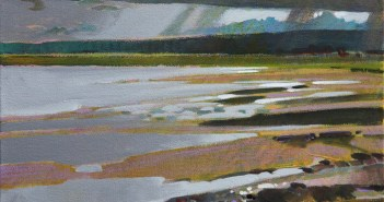 Storm Over the Serpentine, Nicomeckl Estuary, 2013 acrylic on canvas 11 x 14 inches by Robert Genn