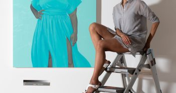 Amy Sherald in her  Baltimore studio. Joseph Hyde photo.