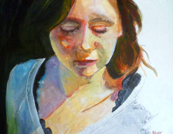 Painting a portrait with acrylic on yupo paper step by for Portrait painting tutorial