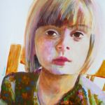 Portrait of a young girl-Acrylic on yupo paper
