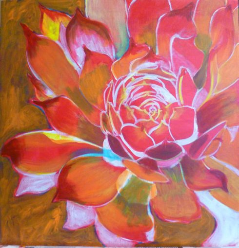 free acrylic painting lessons: painting flowers on canvas
