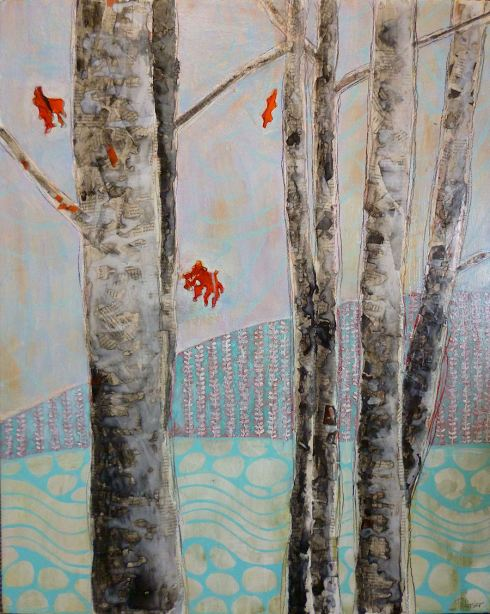 Mosquito Creek mixed media on panel